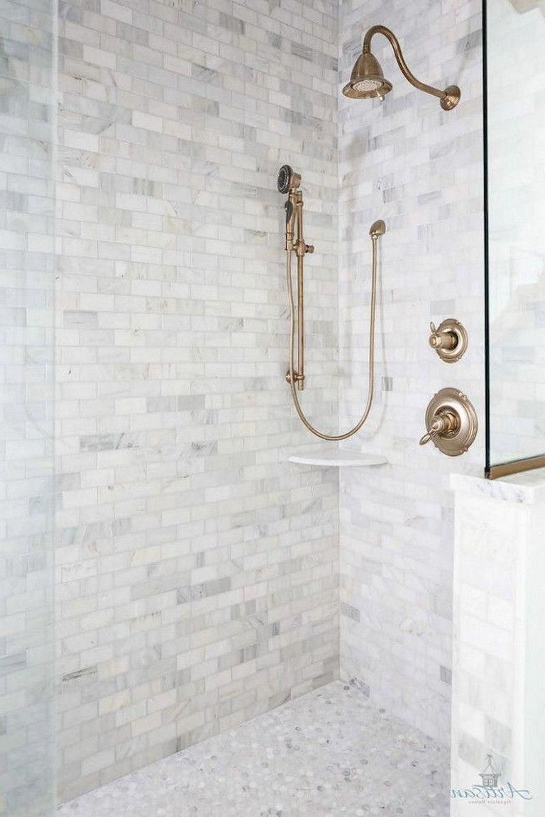 Modern Waterfall Shower With Grey Wall Tile And Mosaic Grey Shower Shower Floor Tile Shower Floor Grey Wall Tiles
