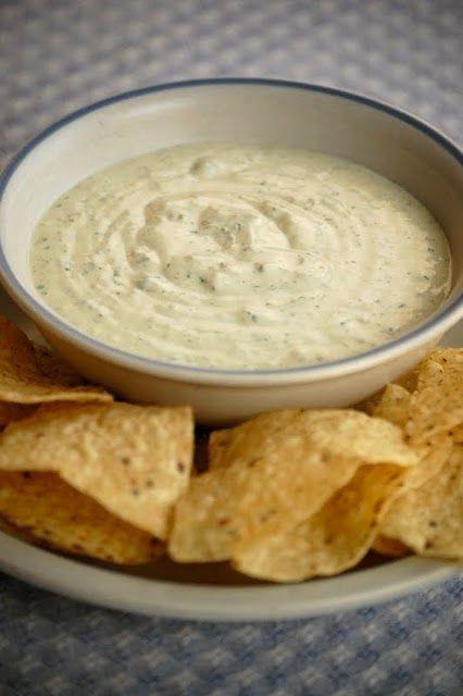 Chuys jalapeno ranch dip! Yummy!