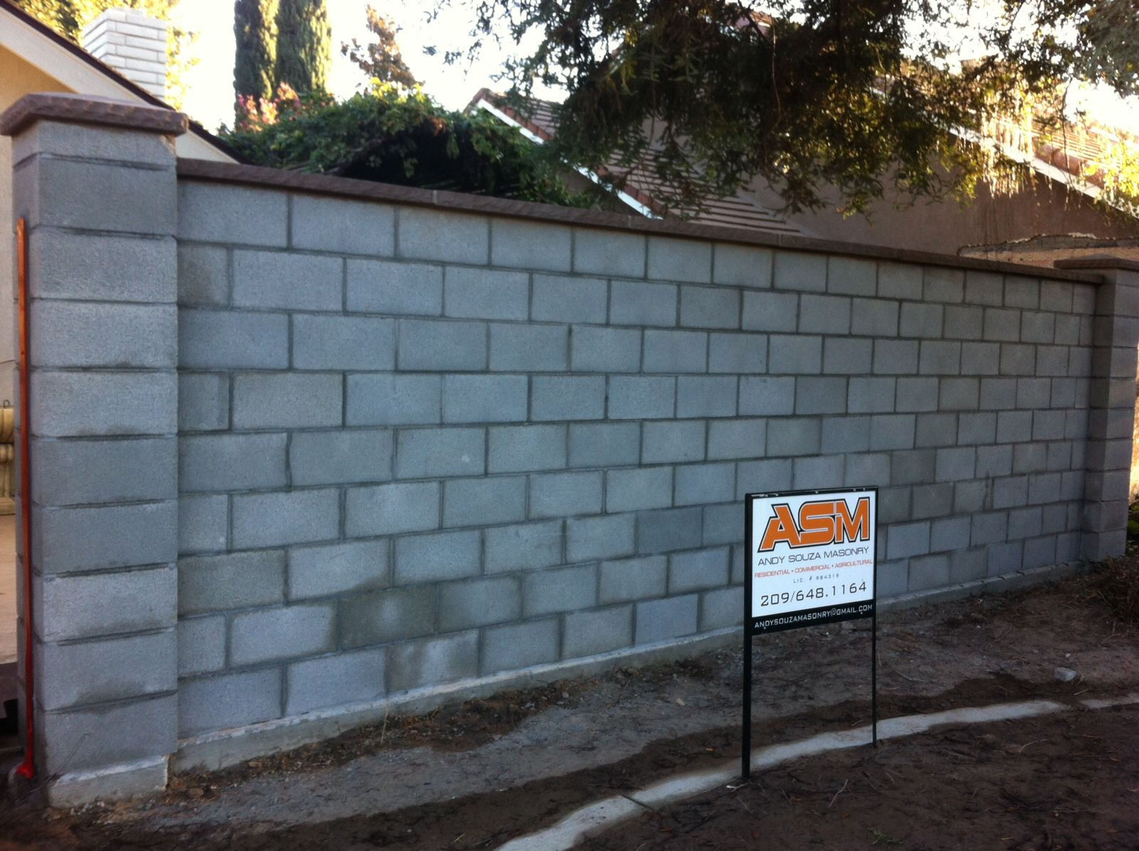andy souza masonry block wall block fence block design brick post - Masonry Block Wall Design