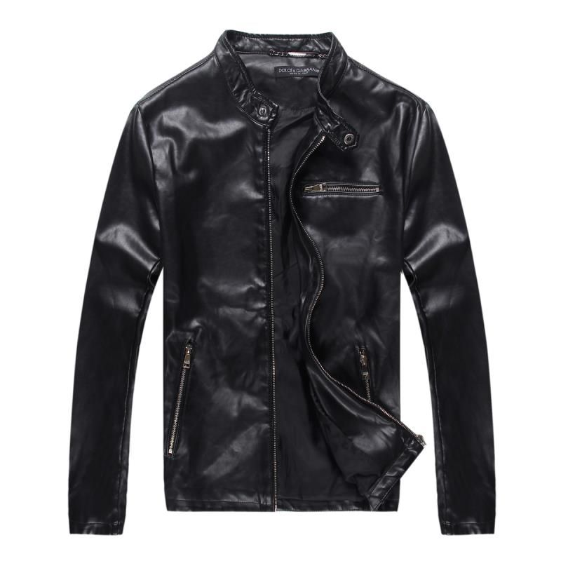 Itemschina Replica Dolce Gabbana D G Dg Jacket Men Pu Leather Jacket Collar Men S Leather Motorcycle Jackets Men Fashion Leather Jacket Men Winter Jacket Men