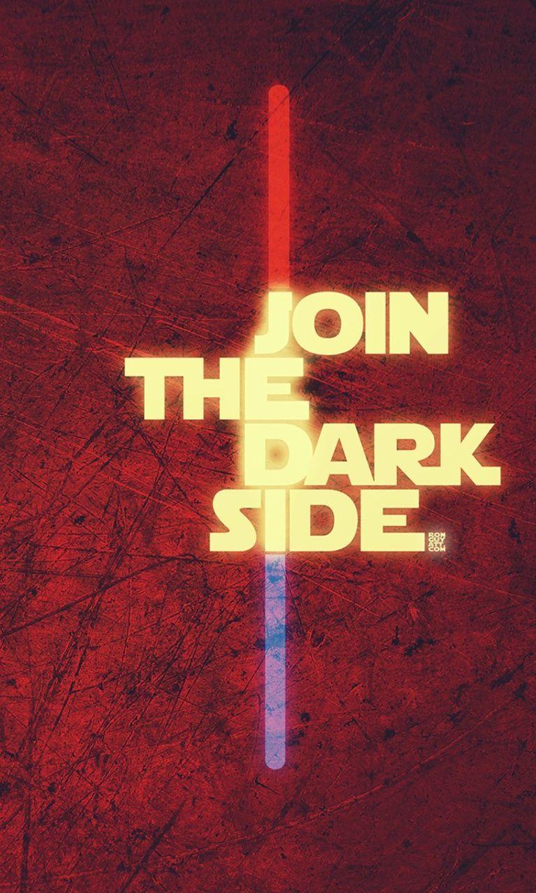 Sign Saying Mobile9 Dark Side Star Wars Star Wars Wallpaper Dark Side