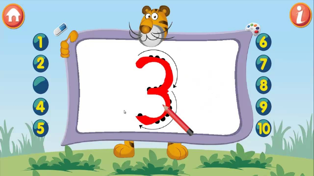 how to write 1-10 numbers for Kids Maths - Kids online games ...