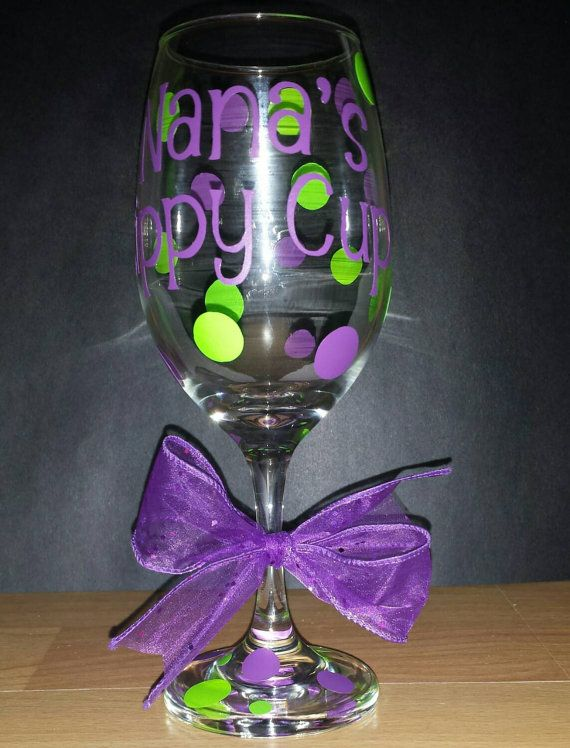 Check out this item in my Etsy shop https://www.etsy.com/listing/174305415/personalized-wine-glass