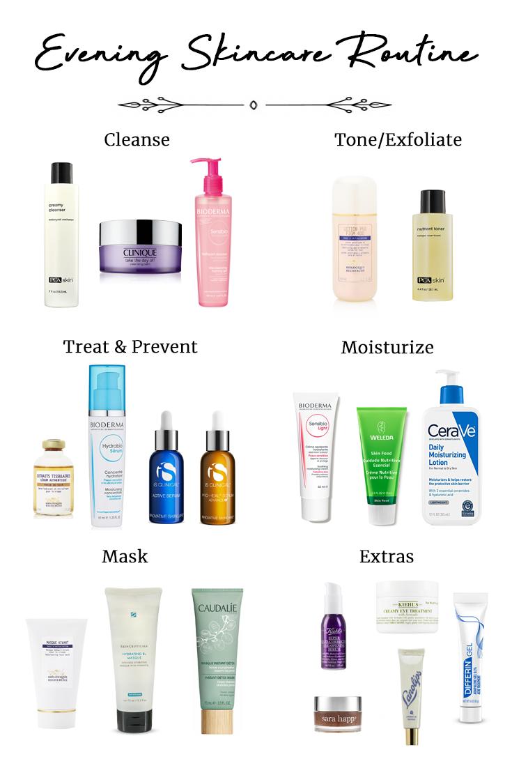 Evening Skincare Routine Cassie Harper Blog Skin Care Routine Steps Night Time Skin Care Routine Best Skincare Products