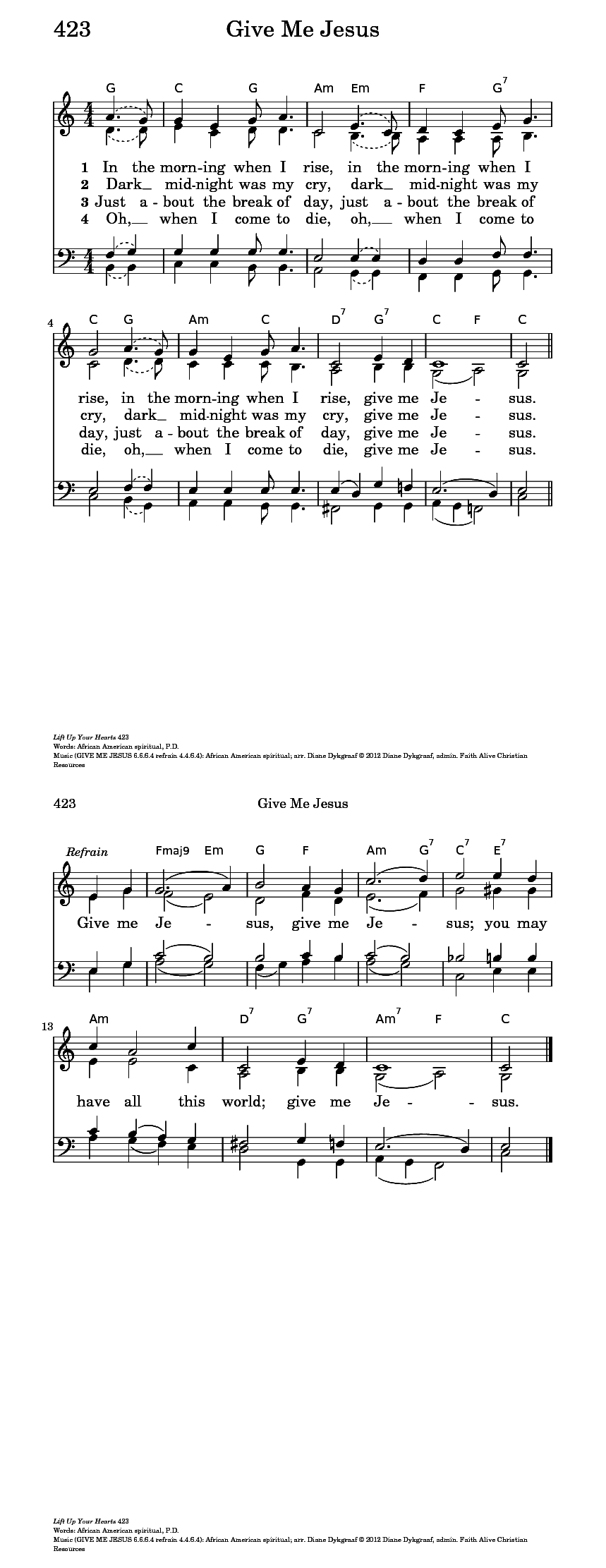 Give Me Jesus - Hymnary.org