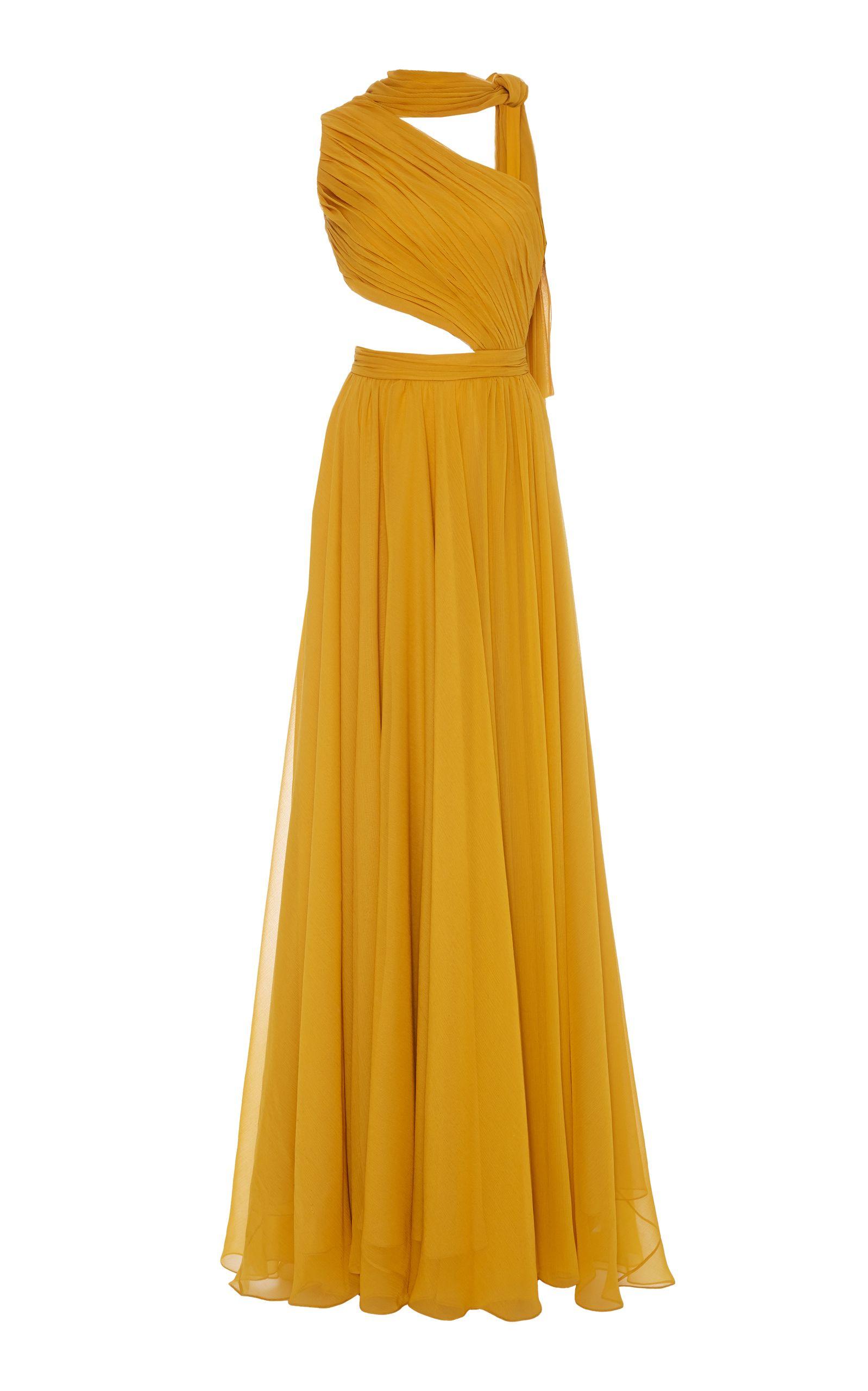 29cb21e508b7 Asymmetric Drape Goddess Gown by PRABAL GURUNG for Preorder on Moda Operandi