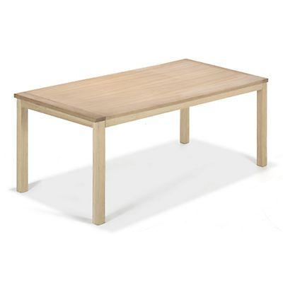 Table de repas 90x180 piétement en chêne et plateau placage chêne