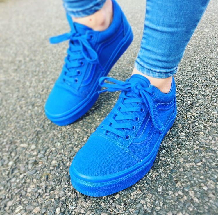 83d984c2bb4cc1 Vans Old Skool Nautical Blue Women s Trainers - Landau Store ...