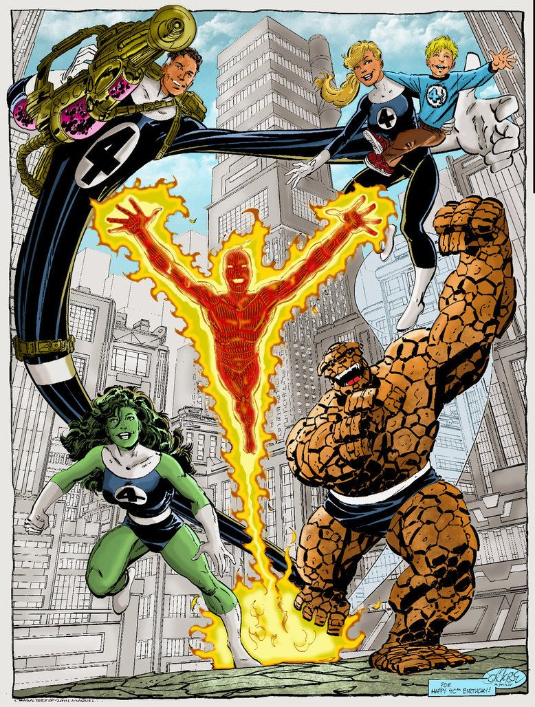 fantastic 5 by john byrne by namorsubmariner.deviantart.com on @DeviantArt