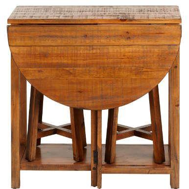 CHAIRLOCK Klapptisch mit 2 Hockern Drop leaf table, Leaf table - klapptisch für küche