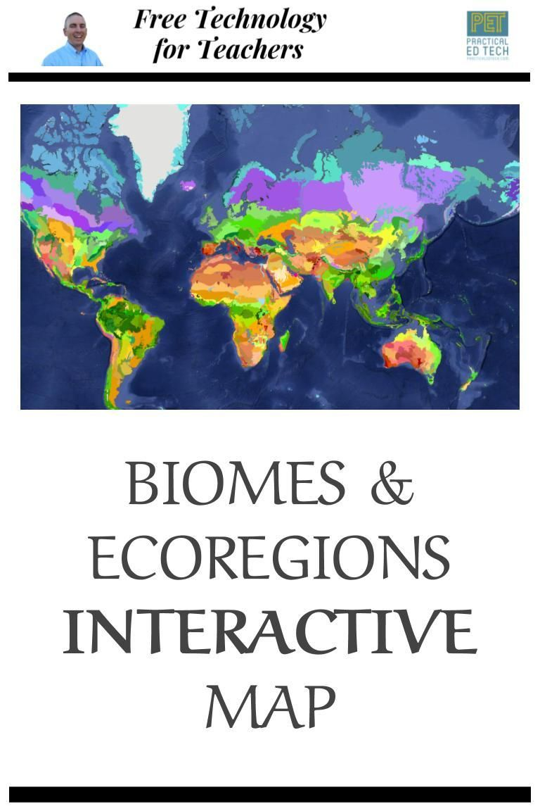 Biomes And Ecoregions Interactive Map Biomes Interactive Map Interactive [ 1152 x 768 Pixel ]