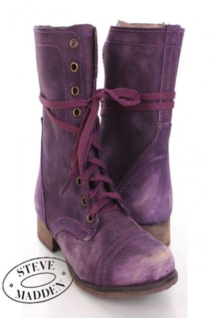 96d2de47a9e Purple+Leather+Boots