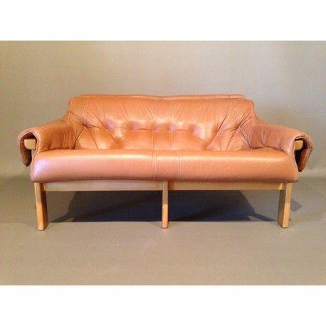 Canape Percival Lafer En Cuir D Occasion Vintage Design Scandinave Industriel Ancien Mobilier De Salon Canape Cuir Et Cuir