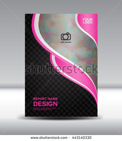 Pink And Black Cover Design Flyer Template Vector Illustration
