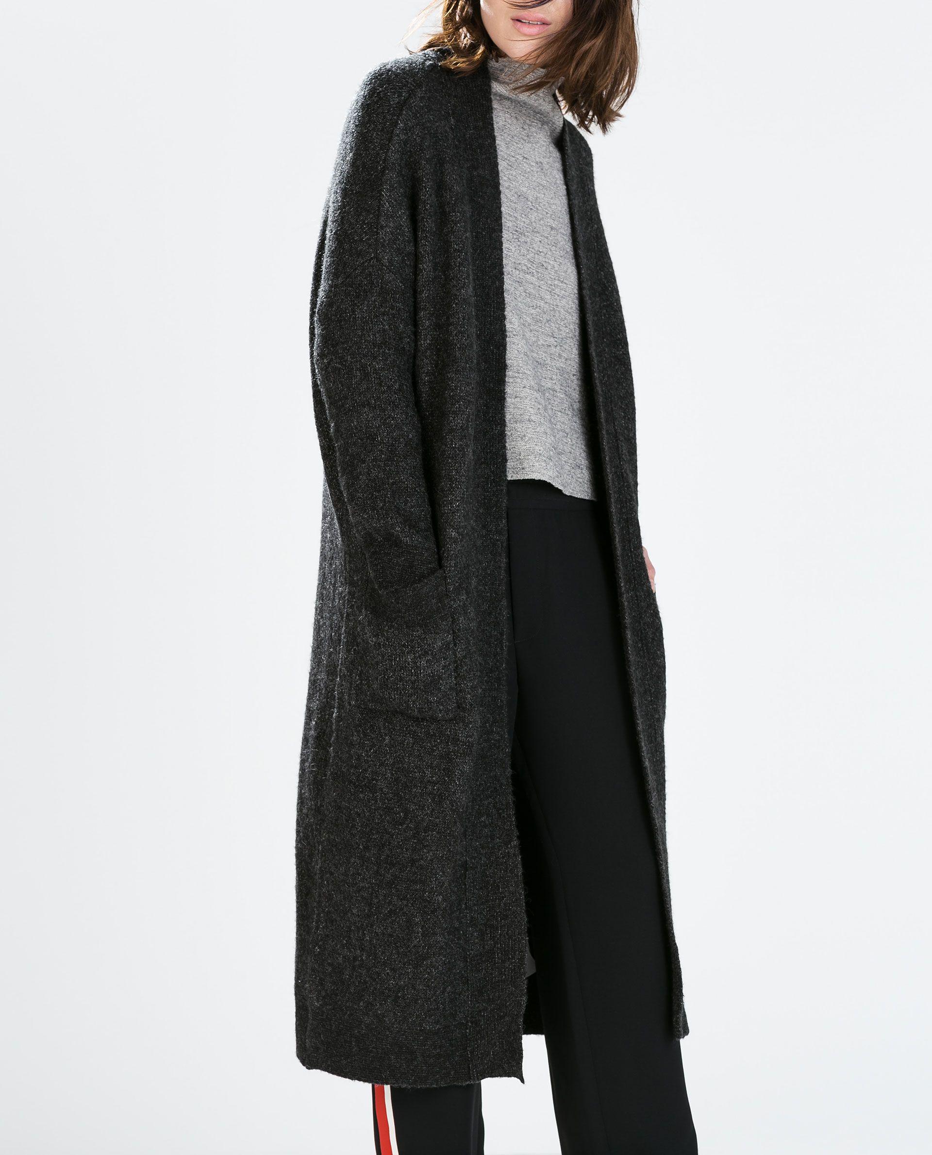 e13ce943266 EXTRA-LONG CARDIGAN WITH POCKETS from Zara