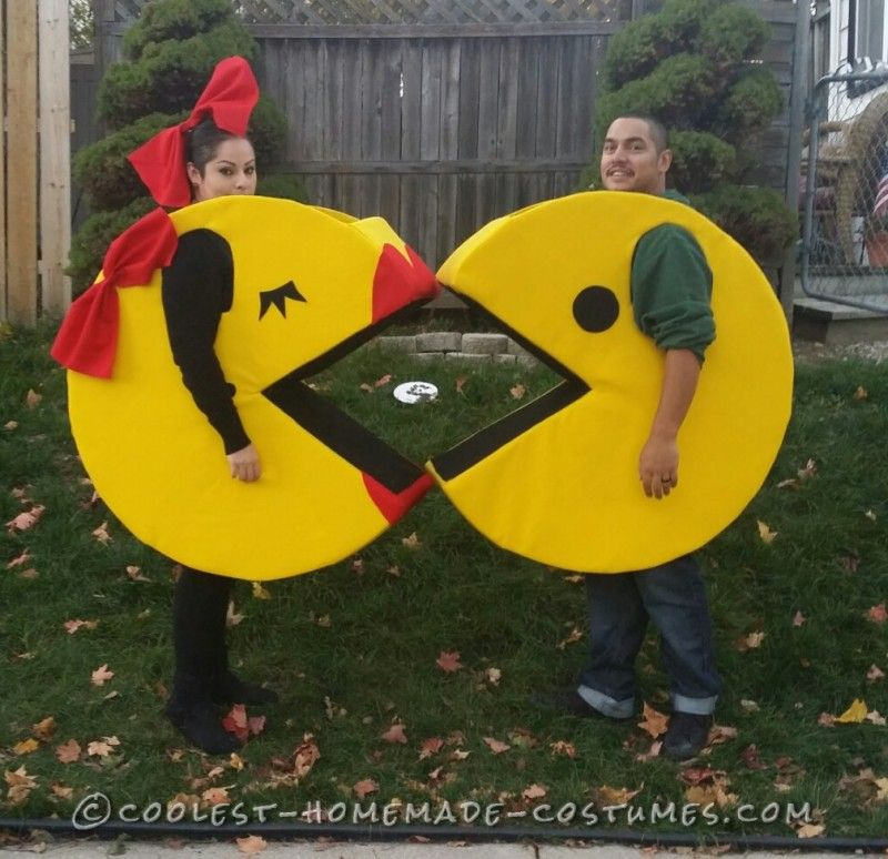 our homemade pacman famliy costumes