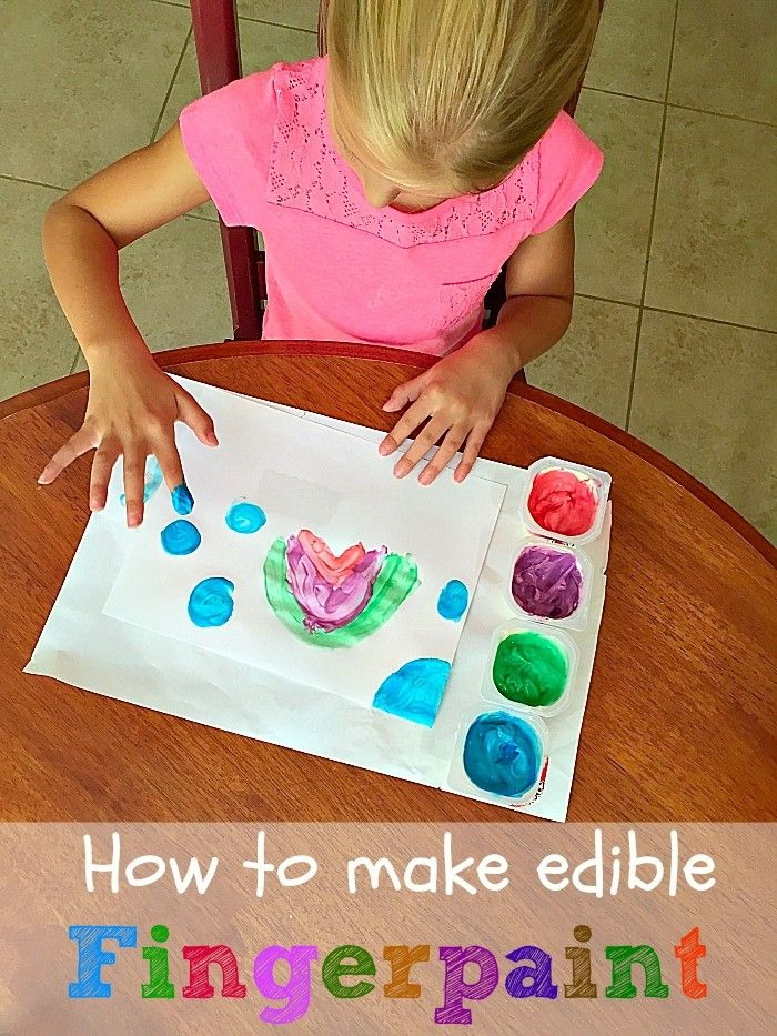 How to make edible fingerpaints. SO much fun for toddlers and kids and so easy to do.