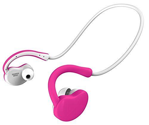 Sharper Image Sbt516pk Foldable Bluetooth Sport Earbuds For Running