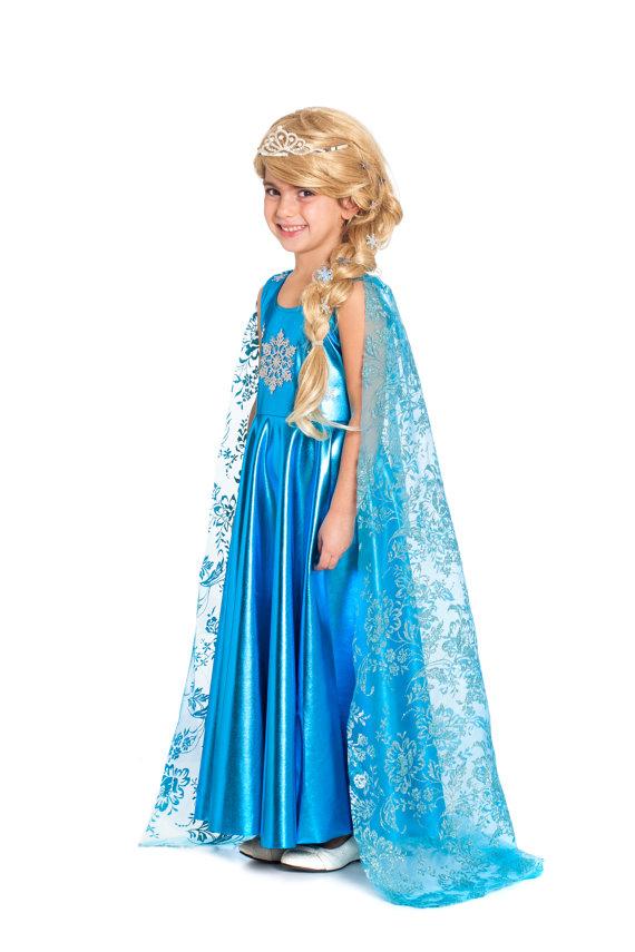 67138636ed6b7 Elsa Dress For Girls, Elsa Costume, Elsa Birthday, Princess Dress ...