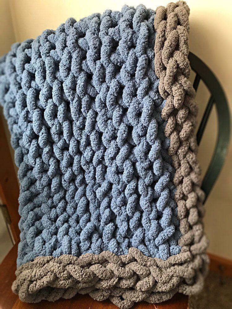 Chunky Knit Baby Blanket Crochet for beginners blanket
