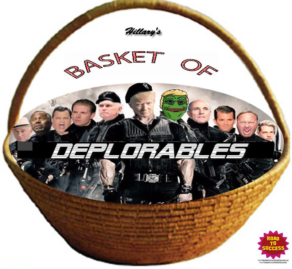 LIMITED SUPPLY GOING FAST! Hillary's BASKET OF #DEPLORABLES Button & T-shirt Sale  #election