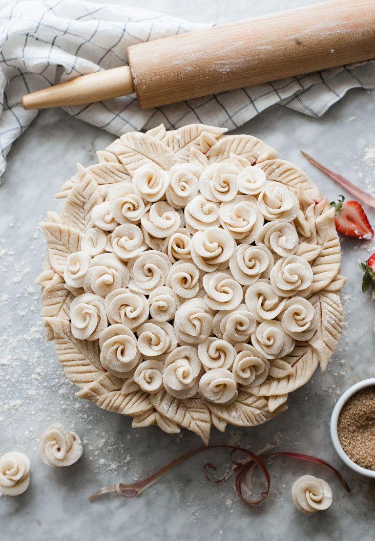 Rosy Rhubarb & Strawberry Pie | Recipe | Pinterest | Beautiful pie ...
