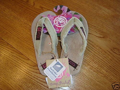 191ef0525 Ocean Minded Laguna girls youth khaki tan kids flip flops size S Small NWT      OceanMinded  FlipFlops