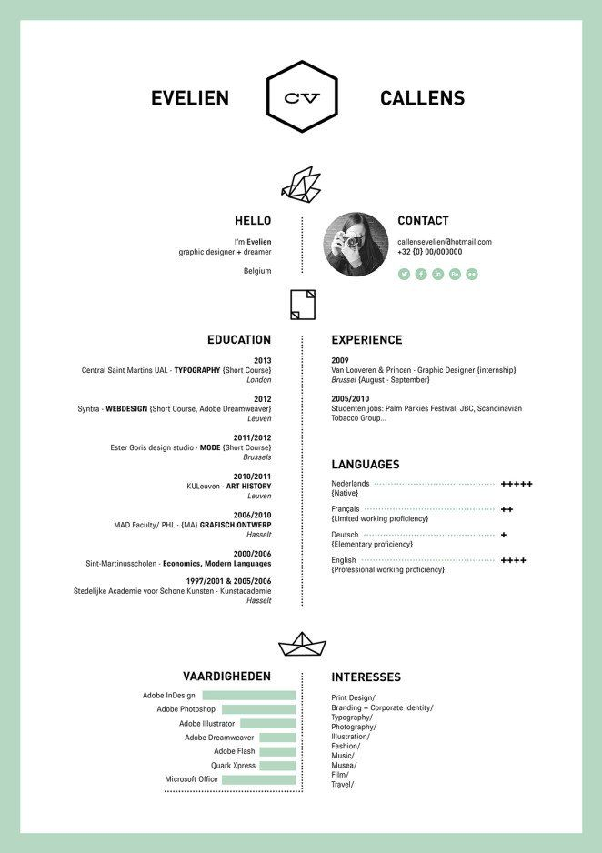50 Inspiring Resume Designs And What You Can Learn From Them Design School