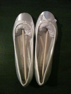 Michaelangelo Satin Ballet Flat Wedding Shoescant Wait To See How