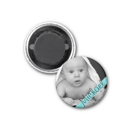 Make Your Own Baby Photo Name Magnet Refrigerator Magnet