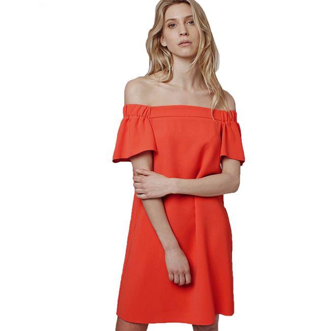 mini-women-off-shoulder-dresses-in-orange-color  0d86b328e9
