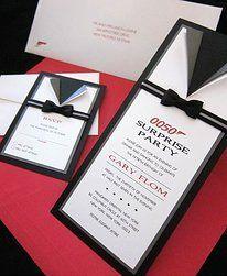 kasiacreations James Bond Black Tie Invitations Auction Dinner