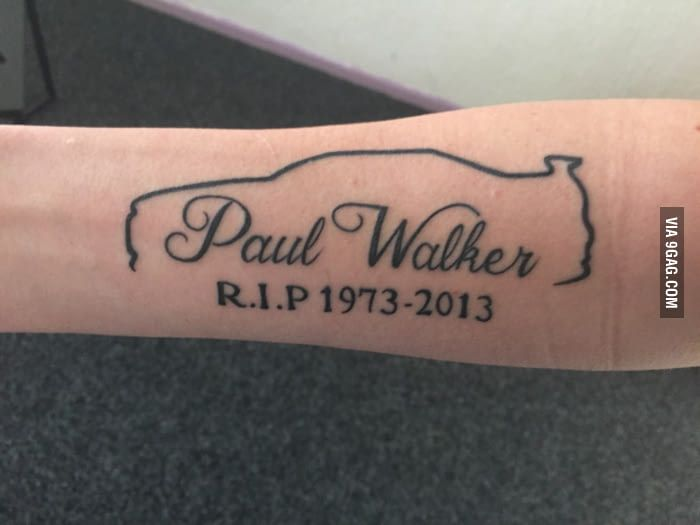 Tattoo Von Paul Walker