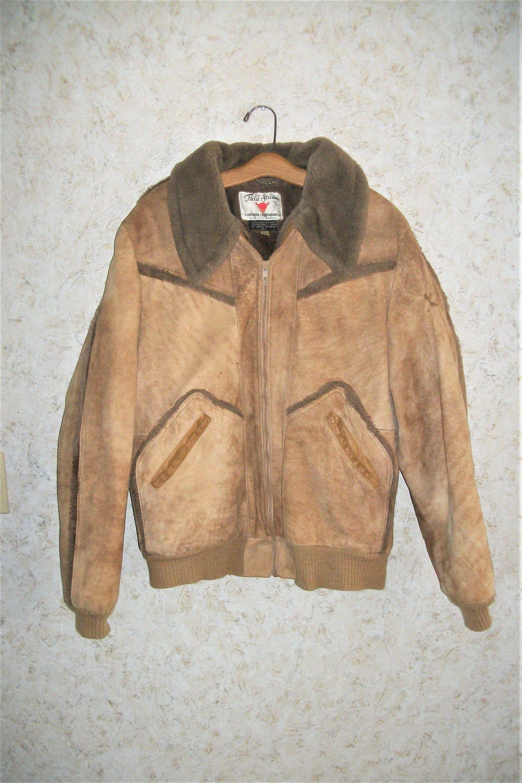 80s Field Stream Tan Suede Jacket Bomber Jacket 1980s Retro Etsy Tan Suede Jacket Tan Suede Suede Jacket
