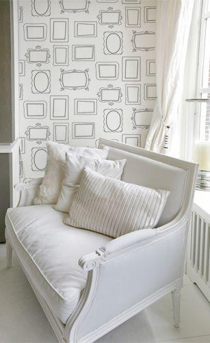 tapete bilderrahmen schwarzweiss von happy people auf. Black Bedroom Furniture Sets. Home Design Ideas