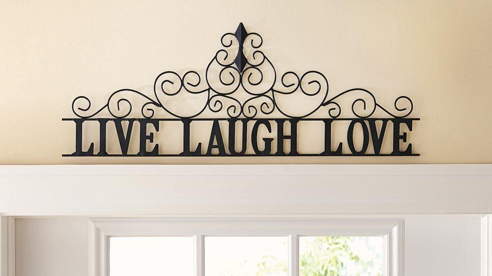 Ctd store elegant metal scroll live laugh love wall art home decor accent click image for more details this is an affiliate link