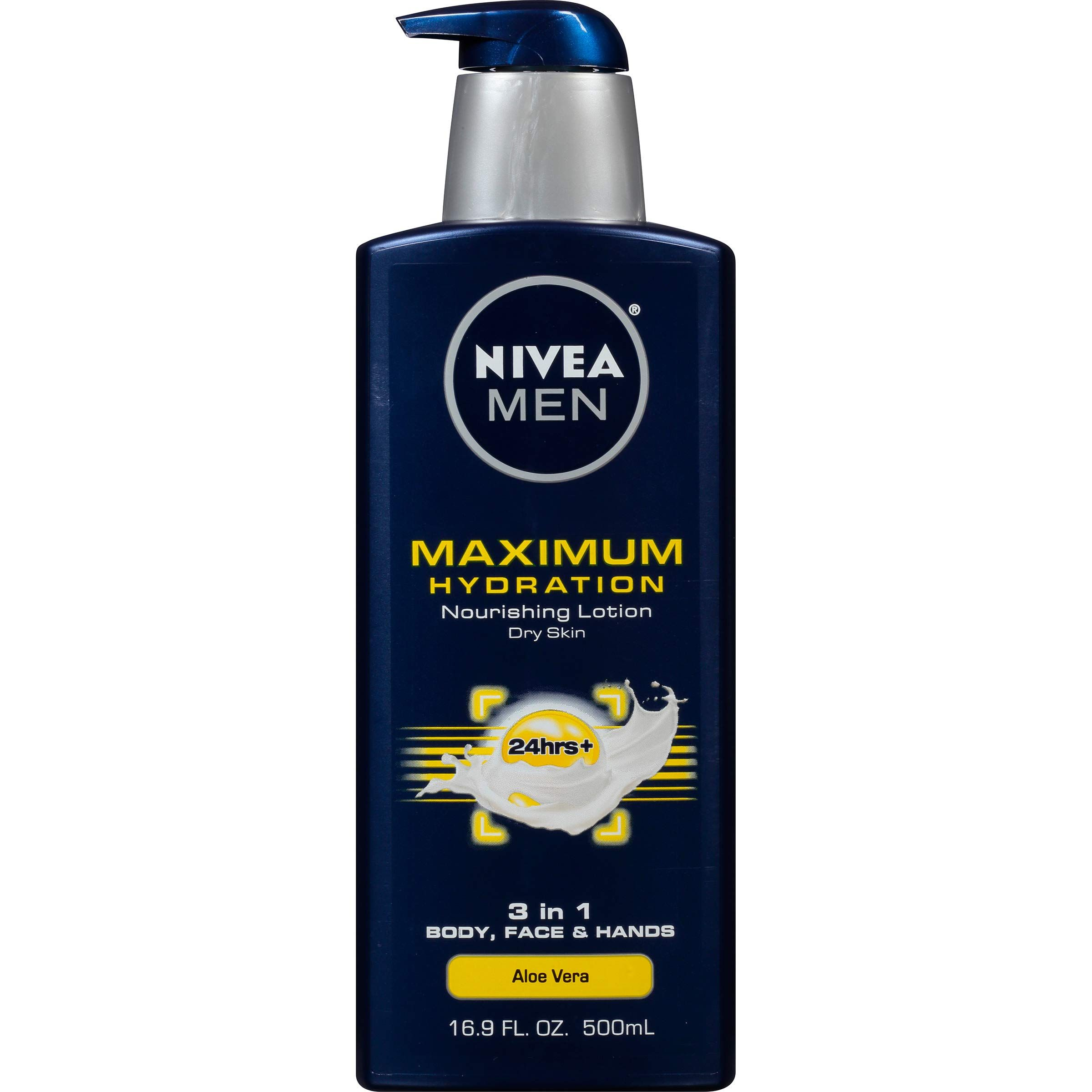 Nivea Men Maximum Hydration 3 In 1 Nourishing Lotion Body Face Hands 16 9 Oz Pump Bottle In 2020 Lotion For Dry Skin Best Body Moisturizer Best Lotion