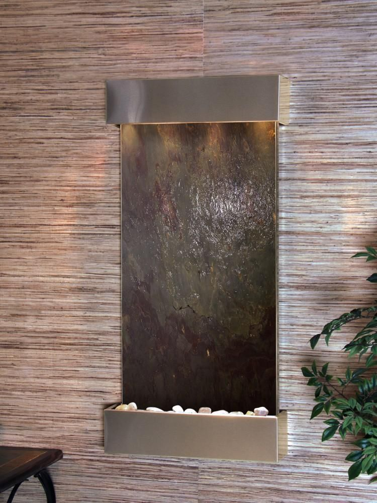 Adagio Whispering Creek Wall Fountain In 2020 Wall Fountain Water Feature Wall Indoor Wall Fountains