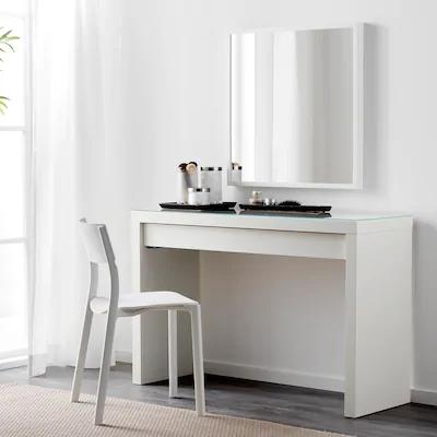 Alex Desk White 51 5 8x23 5 8 Ikea In 2020 Ikea Dressing Table White Dressing Tables Malm Dressing Table