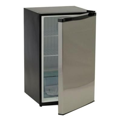 Bullet 4 5 Cu Ft Mini Fridge In Stainless Steel 21008 The Home Depot Stainless Steel Refrigerator Compact Refrigerator Mini Fridge