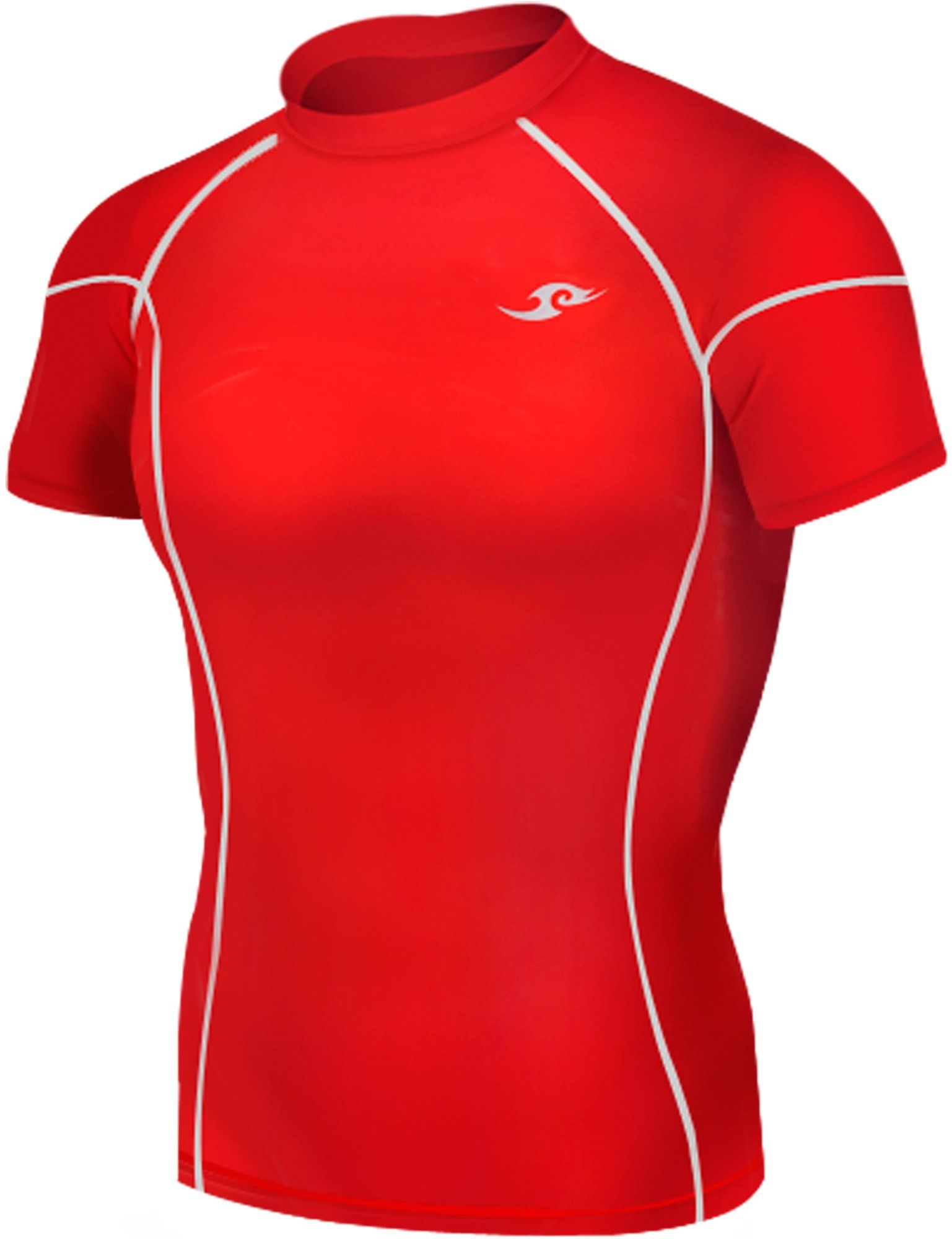 264fe24305 New Take Five Base Layer Mens Compression Skin Tights 036 Red Sports Top  (2XL)