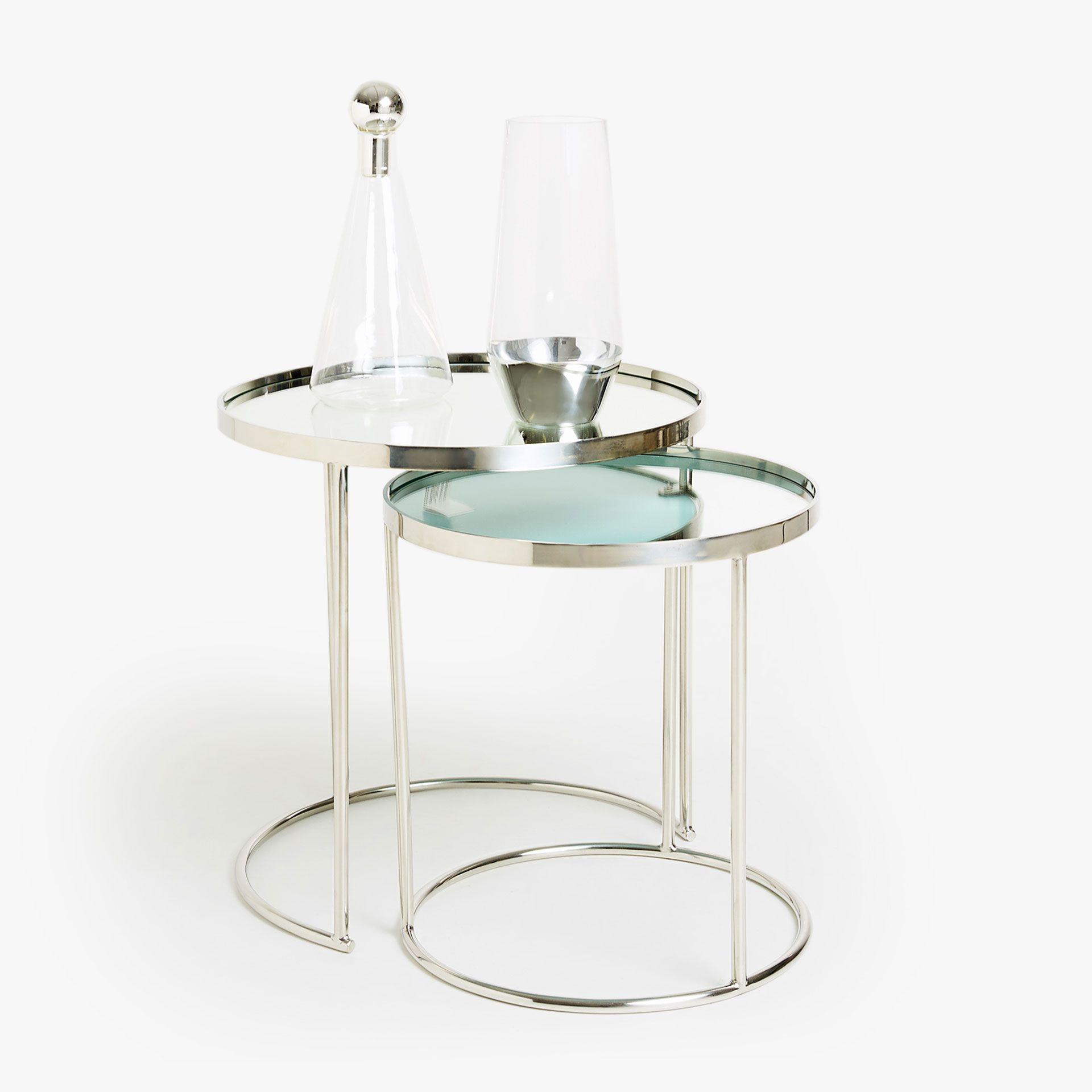 Runde Unterschiebbare Tische 2er Set Mirror Nest Of Tables Coffee Table Table