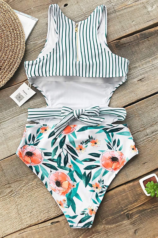 f075eb353ec6e7 CUPSHE Women's Tank Top One-Piece Swimsuit a Amazon Women's Clothing  store:t