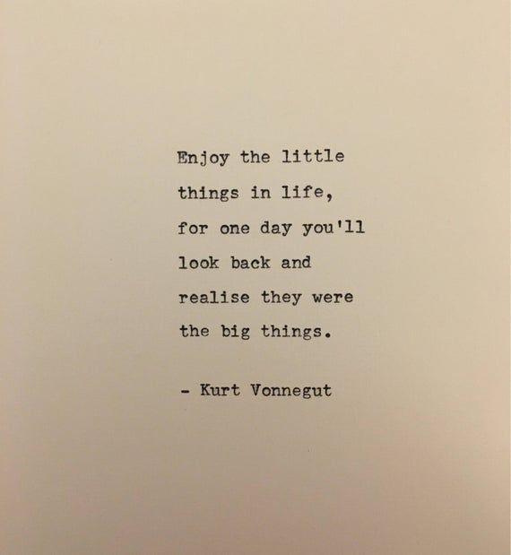 Kurt Vonnegut quote hand typed on antique typewriter scrapbooking