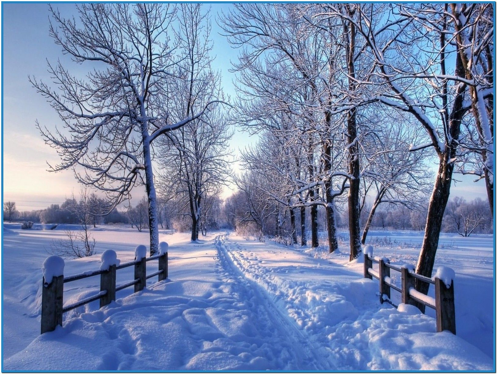 Winter Screensavers Snowy winter screensaver mac