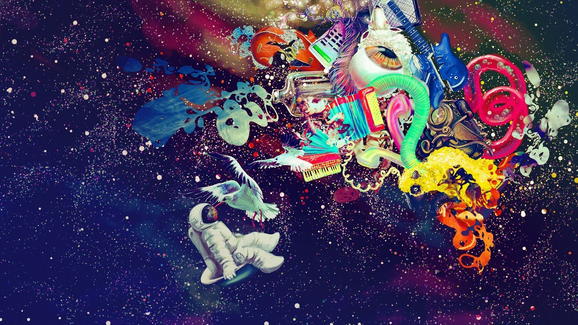 Trippy Astronaut In Space Wallpapers Top Free Trippy Astronaut In Space Backgrounds Wallpaperaccess Trippy Backgrounds Trippy Wallpaper Hippie Wallpaper