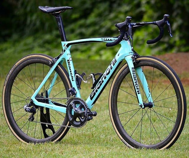 f4687518673 The Bianchi Oltre XR4 is a classic racing bicycle. Would you choose this  one or the disc version? #bianchi #cycling #newbikeday #roadbikes