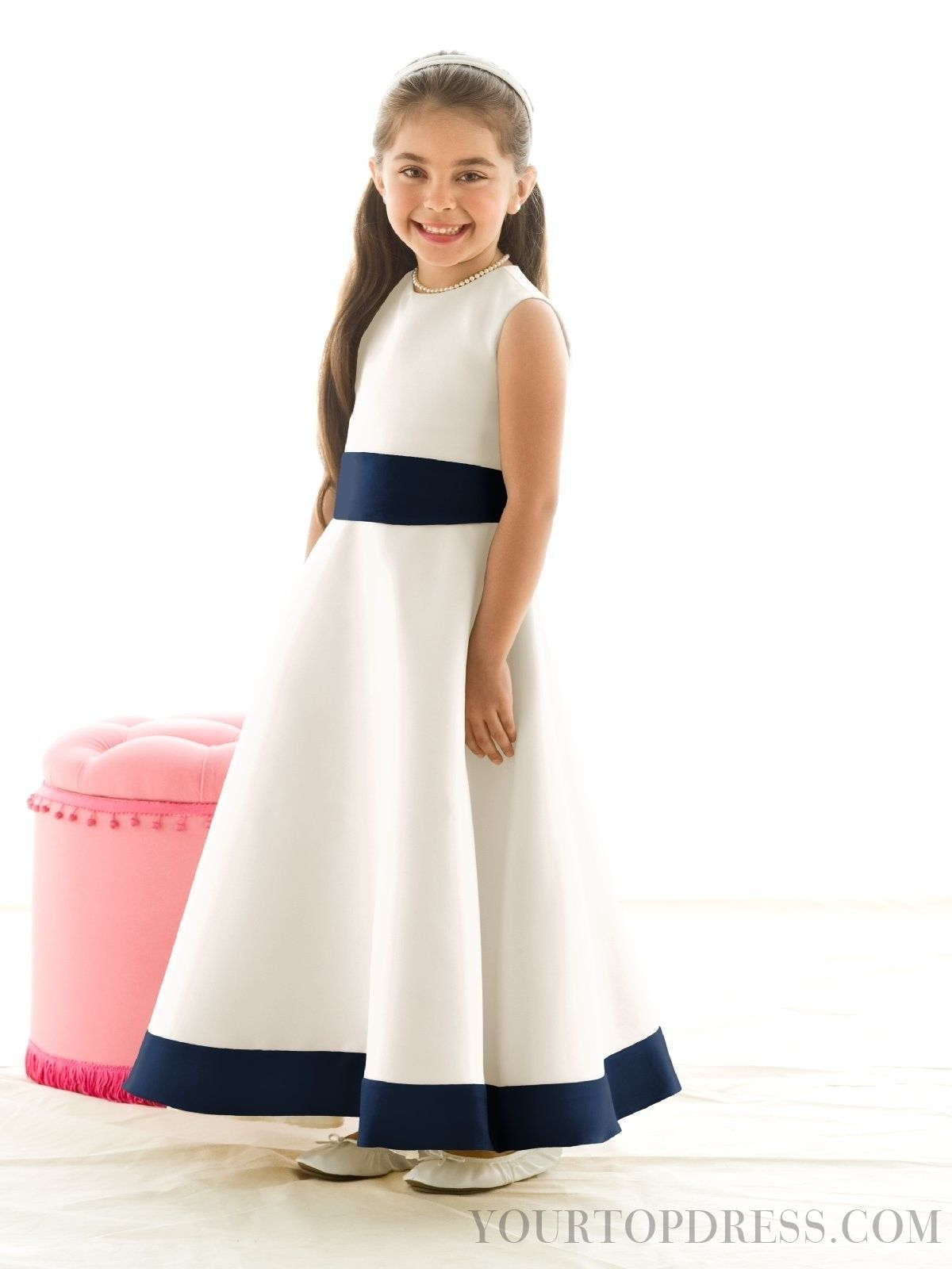 Alluring Sashes / Ribbons A-line Bateau Satin Flower Girl Dresses