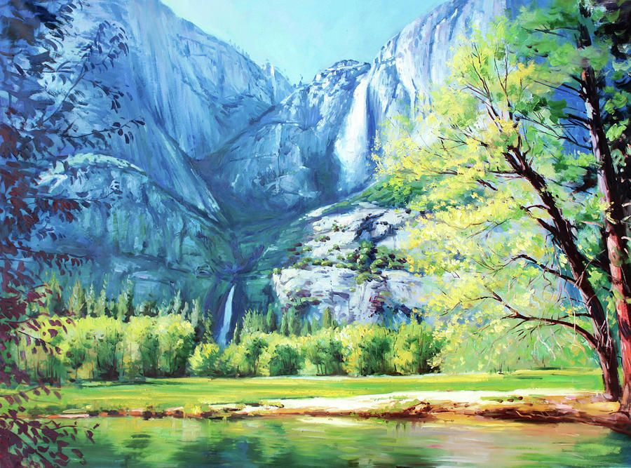 Yosemite Park Painting by Conor McGuire
