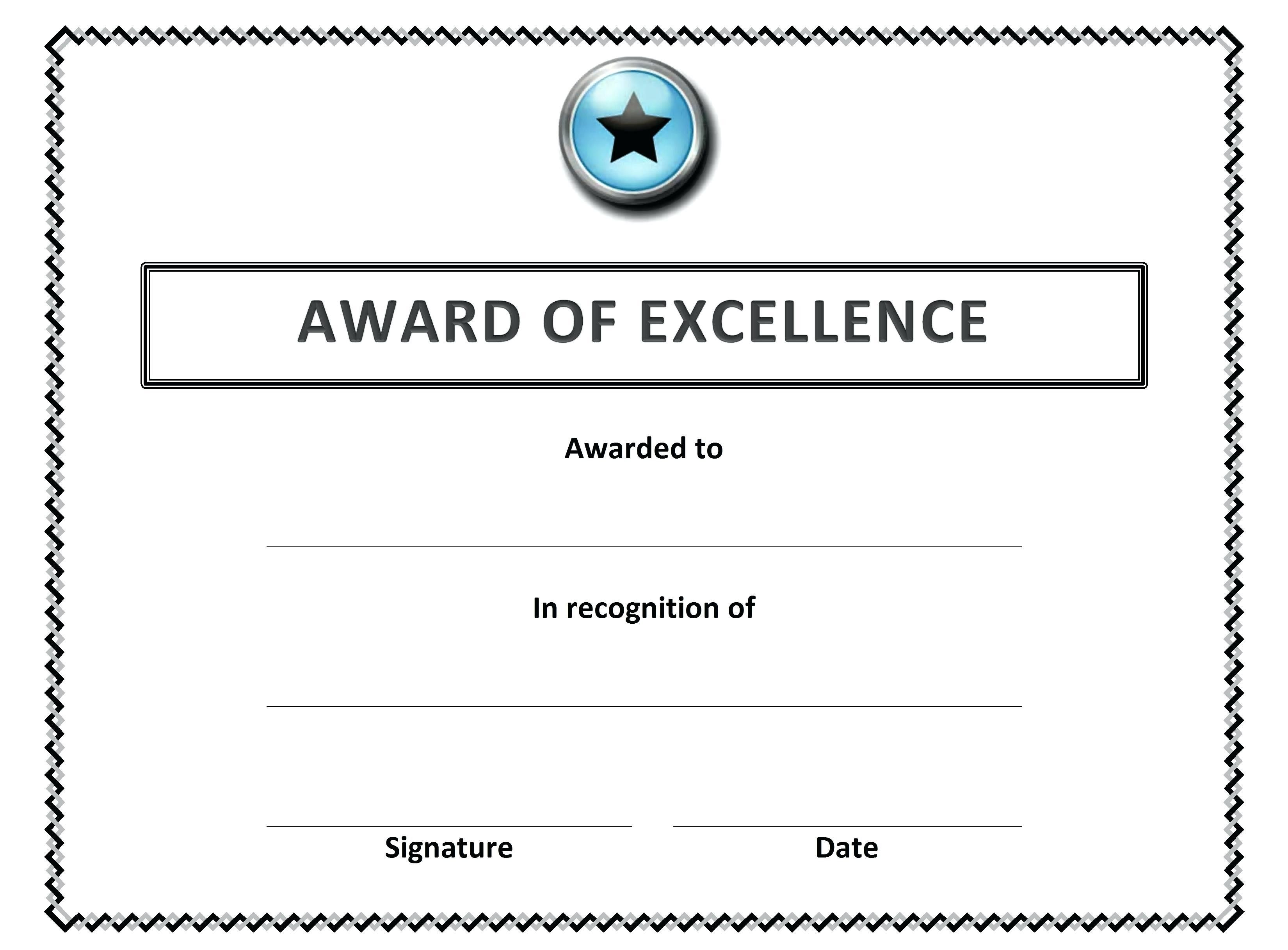 Free Download Certificate Templates For Word Save Template Award